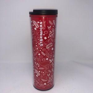 New 16 oz Starbucks Res White Christmas Tumbler